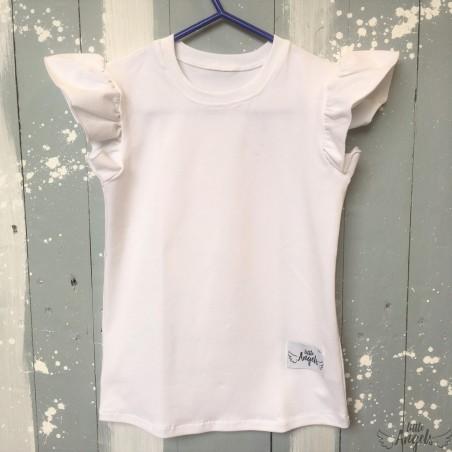 Tričko s volánikom biele