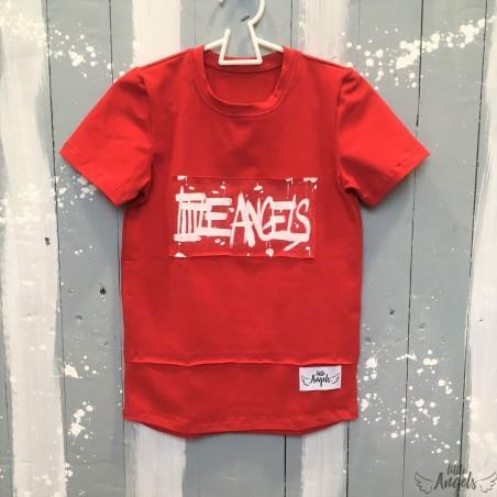 Tričko červené s maľovaným logom