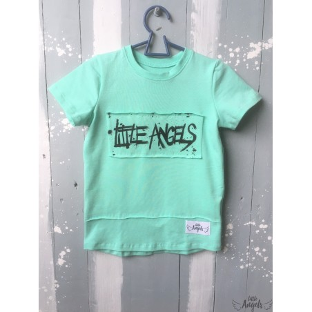 134  Tričko mentol s maľovaným logom